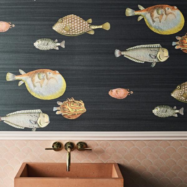 Using Wallpaper In Your Bathroom Beut, Fish Wallpaper For Bathroom