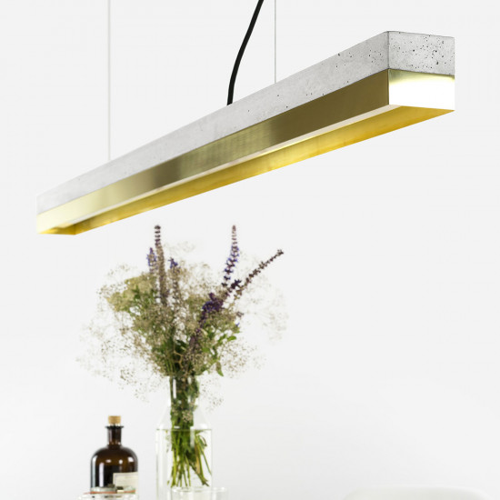 GANTlights C Concrete Pendant Light - Brass (Various Sizes)