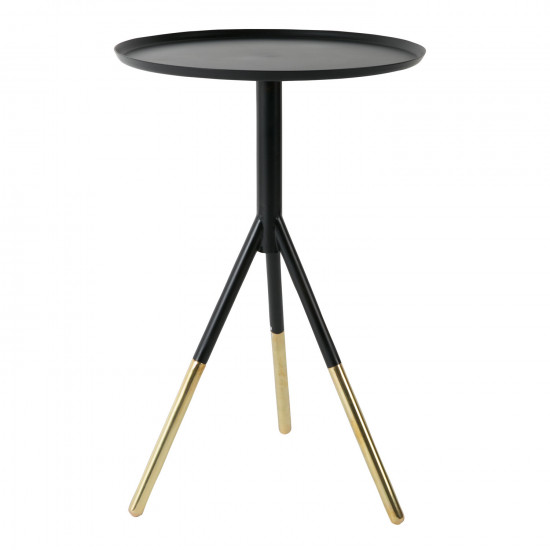 Ductchbone Elia Black Brass Side Table Beutcouk - Black and brass side table