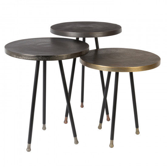 finest selection 295a1 c3687 Dutchbone Set of Three Alim Metal Side Tables