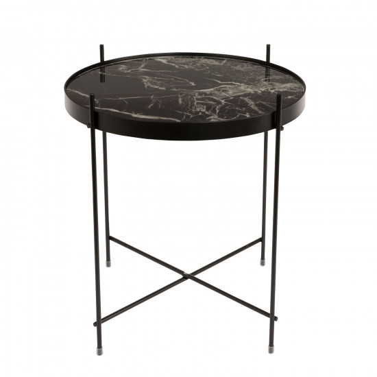 Zuiver Round Black Marble Cupid Side Table