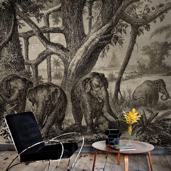 Coordonne Elephants Mural Wallpaper