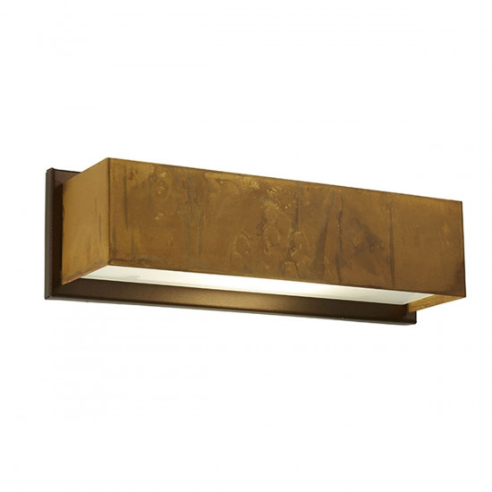 Gibas Lola Wall Light - Large/Rectangle - Distressed Brass