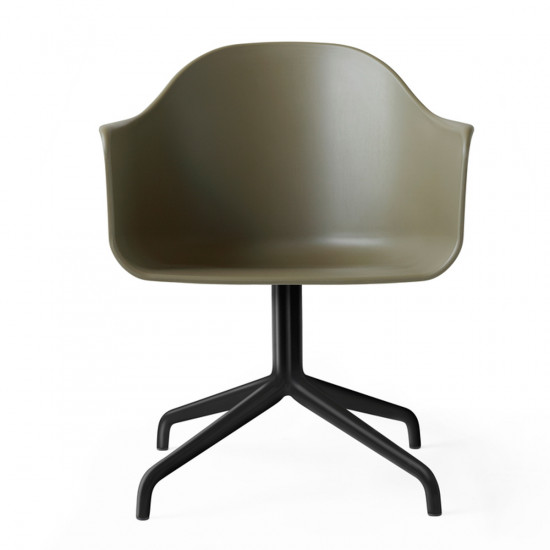 Menu Unupholstered Harbour Swivel Chair-Olive
