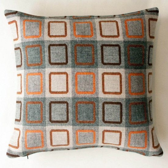Chalk Wovens Squircle Outline Cushion - Orange