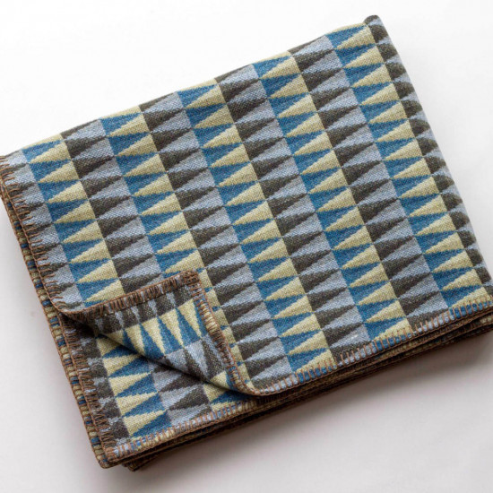 Chalk Wovens Prism Throw - Turquoise