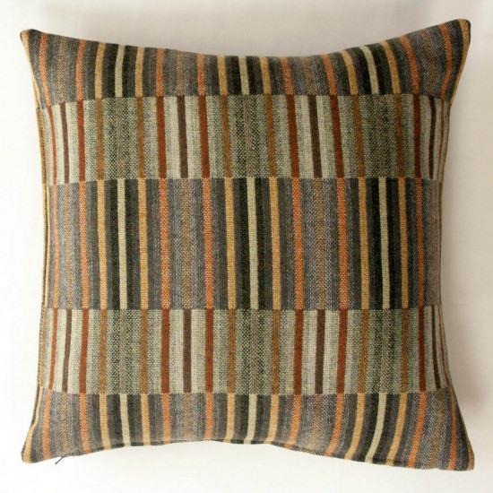 Chalk Wovens Reeds Cushion - Copper