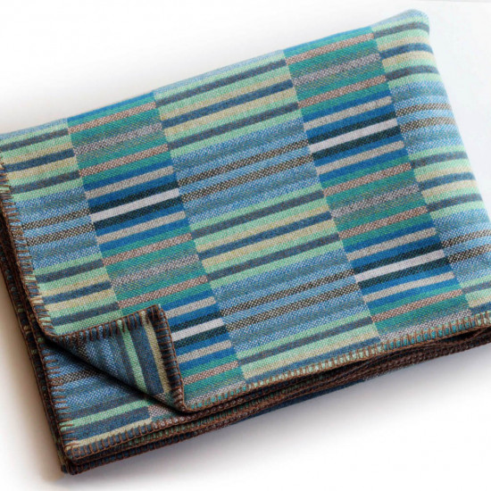 Chalk Wovens Reeds Throw - Turquoise