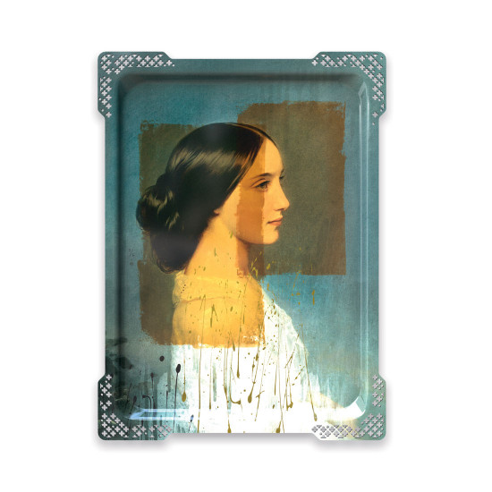 ibride Galerie De Portraits Large Reactangular Tray- IDA 3