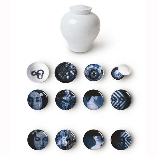 ibride Yuan Set of 4 bowls and 4 plates