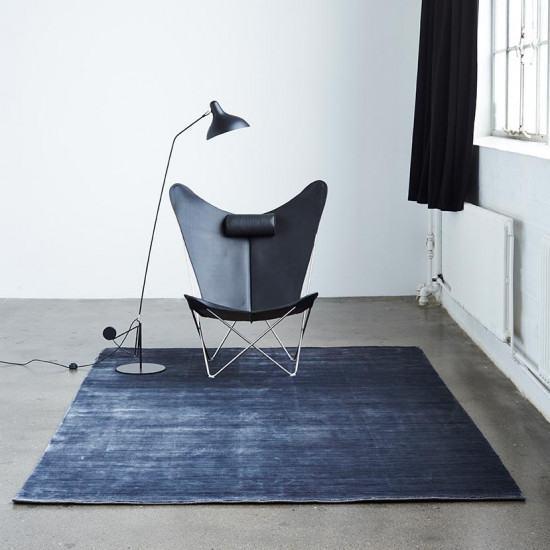 Massimo Bamboo Rug - Steel Black
