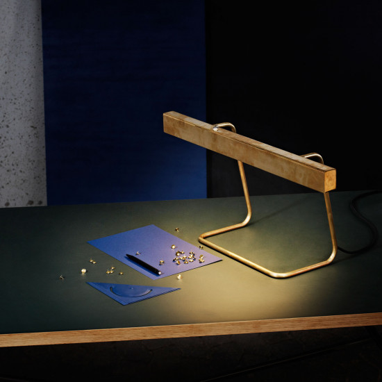 Anour Brass T Model Desk Lamp