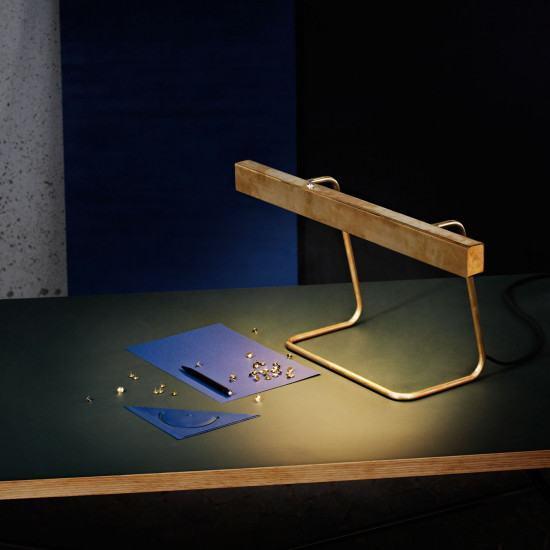 Anour Brass T Model Desk Lamp