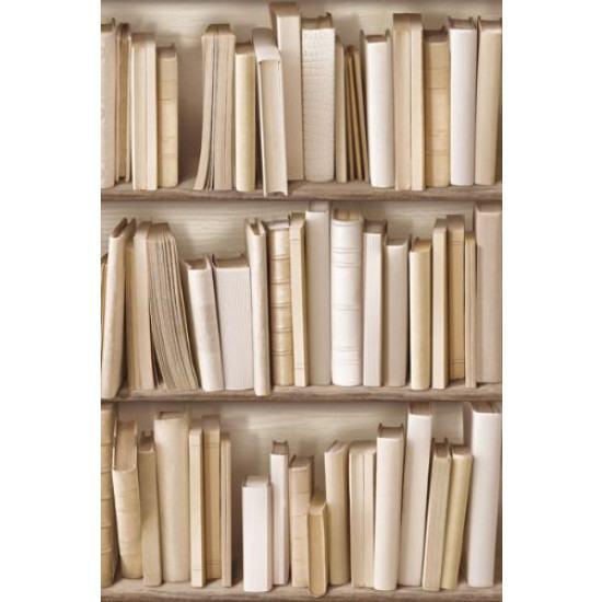Antique Bibliotheque Wallpaper Ivory