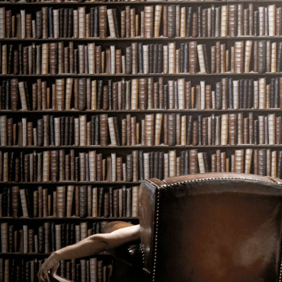 Antique Bibliotheque Books Wallpaper