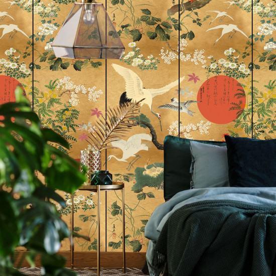 Mind The Gap Byobu Wallpaper (2 roll from a batch)