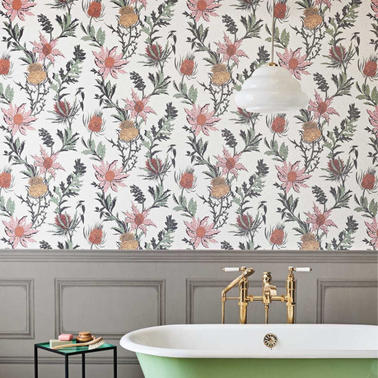 Cole and Son Thistle Wallpaper - Botanicals   beut.co.uk