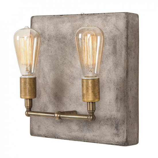 Andrew martin cameron concrete wall light double