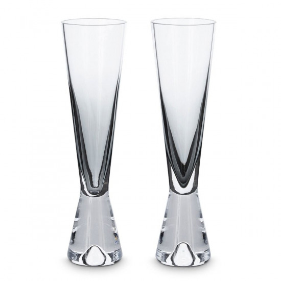 Tom Dixon Tank Champagne Glasses x2 - Black