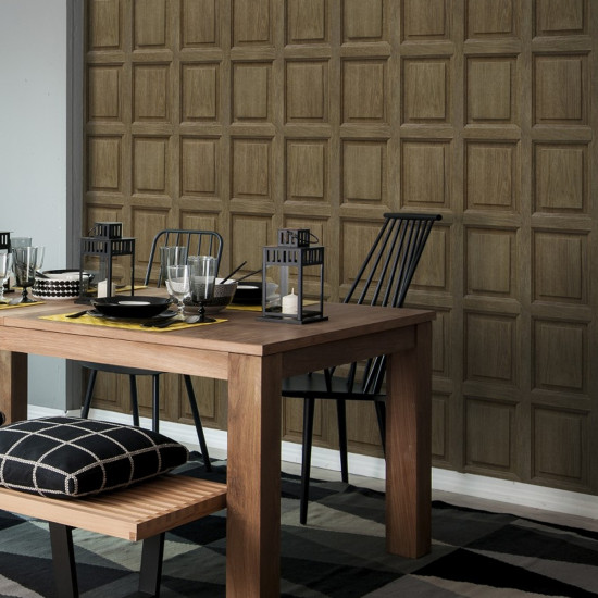 English Panelling Wallpaper