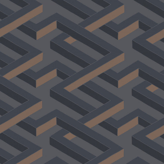 Cole and Son Luxor Wallpaper - Charcoal (1 roll from a batch)