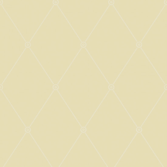 Cole and Son Large Georgian Rope Trellis Wallpaper - Emperor Yellow (100-13063) 1 roll from a batch