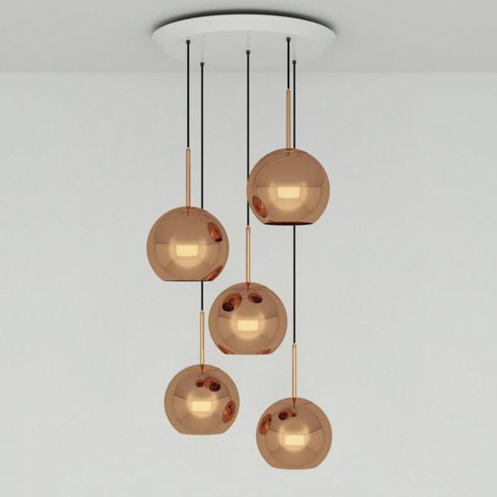 Tom Dixon Copper 25cm Round Pendant System