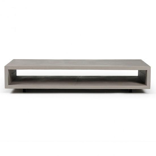 Monoblock Concrete Coffee Table With Wheels
