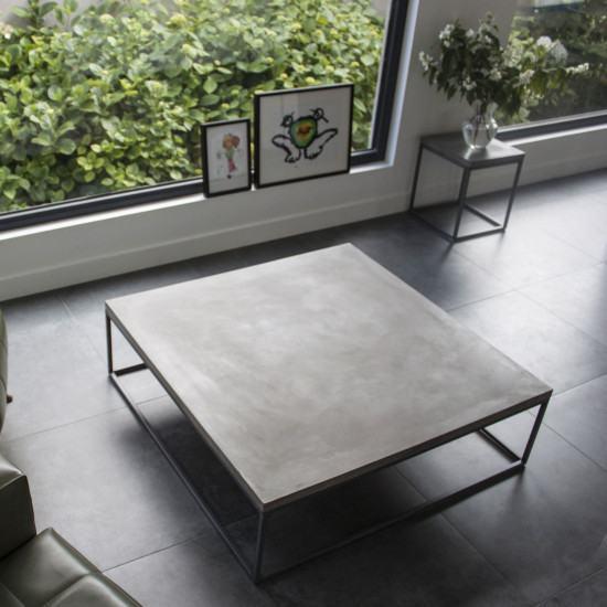 Lyon Beton Large Perspective Concrete Coffee Table Lyon Beton