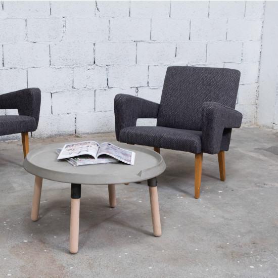 Lyon Beton Concrete And Wood Coffee Table
