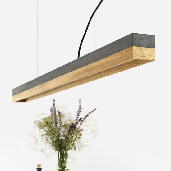 GANTlights C Concrete Pendant Light- Oak (Various Sizes)