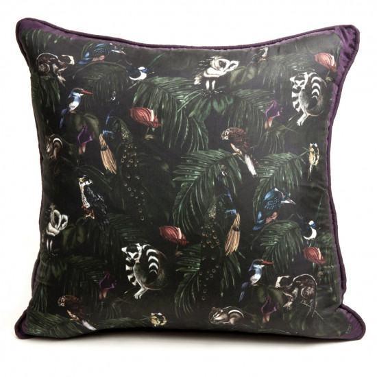 Witch and Watchman Amazonia Dark Silk Cushion