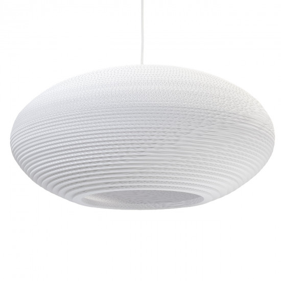 Graypants White Disc Pendant Lamp 24 inch