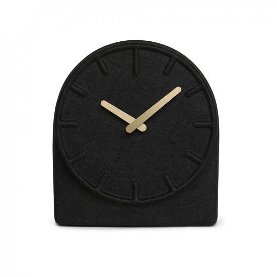 Leff Amsterdam Felt 2 Mantle Clock - Black