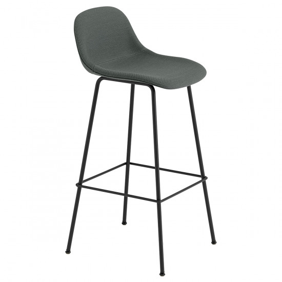 Muuto Upholstered Fiber Tube Base Bar Stool - 75cm