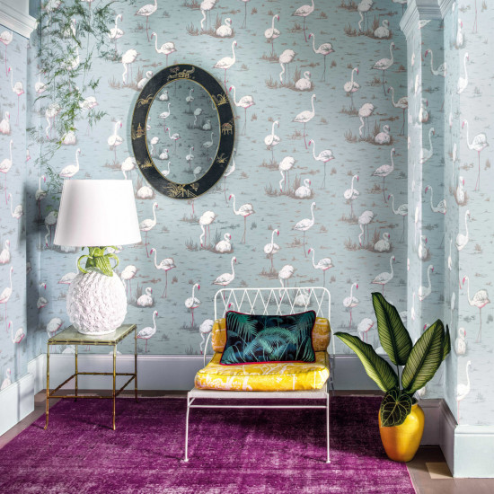 Cole And Son Flamingos Wallpaper New Contemporary Beut Co Uk