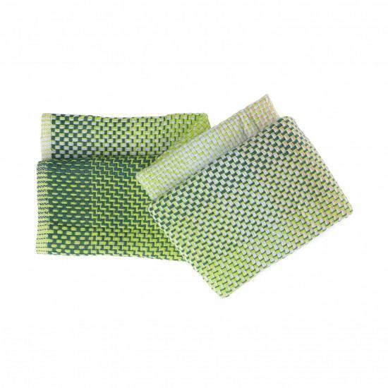 Simon Key Bertman Textile Design & Art - Gradient Wool Throw - Green