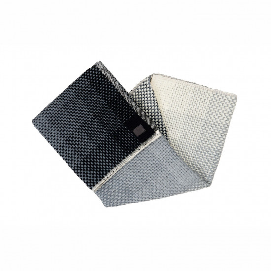 Simon Key Bertman Textile Design & Art Gradient Wool Throw - Grey