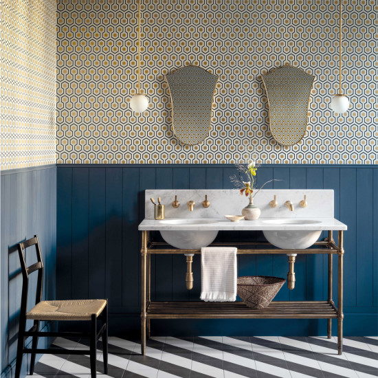 Cole and Son Hicks' Hexagon Wallpaper - New Contemporary