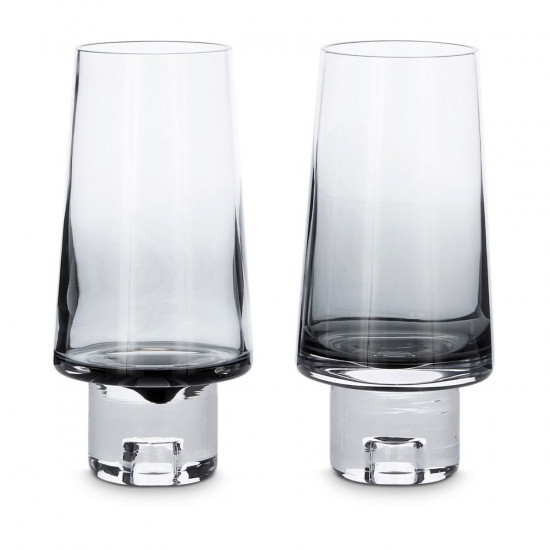 Tom Dixon Tank High Ball Glasses x2 - Black