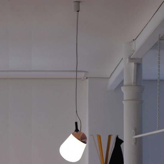 Vertigo Bird Hippo Suspension Lamp - Copper