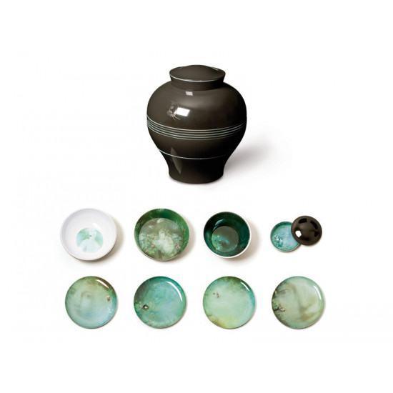 ibride Yuan Set of 4 bowls and 4 plates - Black