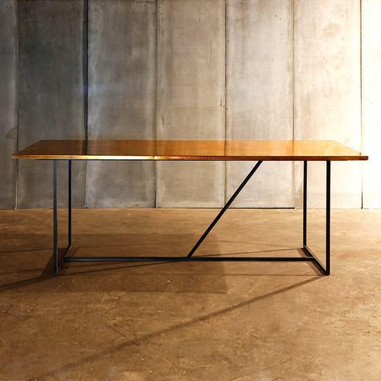 Astounding Heerenhuis Messing Brass Dining Table Interior Design Ideas Tzicisoteloinfo