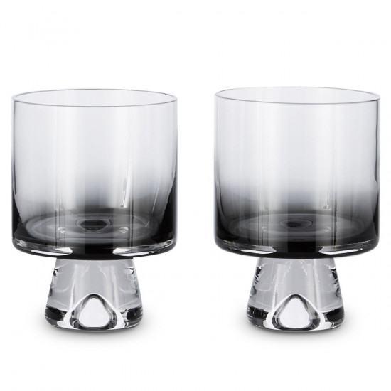 Tom Dixon Tank Low Ball Glasses x2 - Black