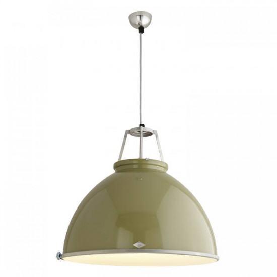 Original BTC Titan Size 5 Pendant Lamp with Etched Glass