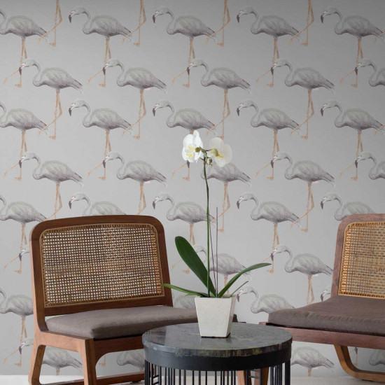 Feathr Flamingo Conga Wallpaper Beut Co Uk