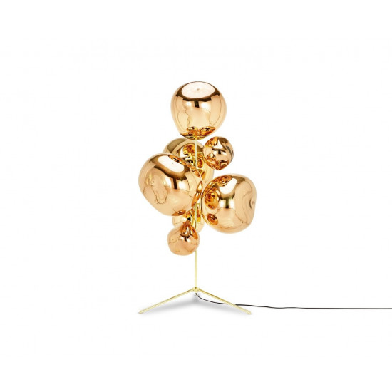 Tom Dixon Melt Chandelier Floor Lamp - Gold