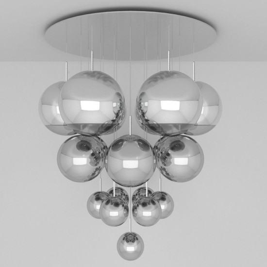 Tom Dixon Mirror Ball Mega Pendant System