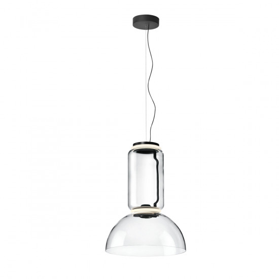 Flos Noctambule S Low Suspension Light - Cylinders and Bowl