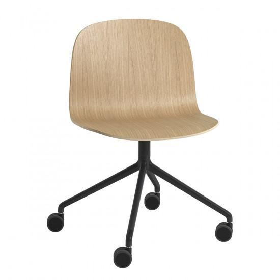 Chair With Wheels >> Muuto Visu Swivel Chair With Wheels